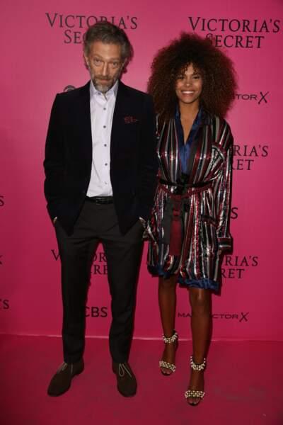 Défilé Victoria's Secret : Vincent Cassel et sa petite amie Tina Kunakey