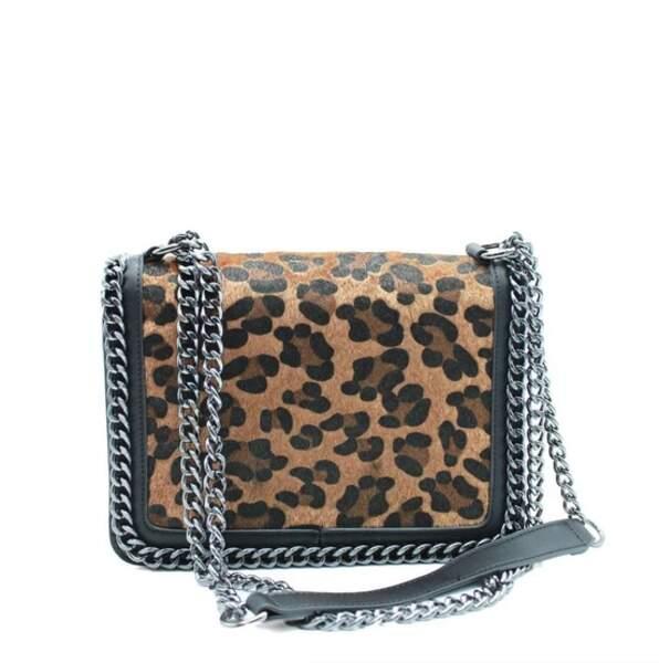 Sac bandoulière à motif léopard, Kebello, actuellement à 26,10€ chez La Redoute