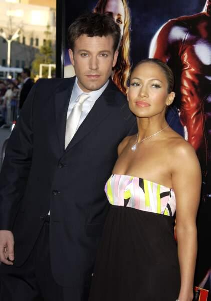 Ben Affleck et Jennifer Lopez en couple de 2002 à 2004