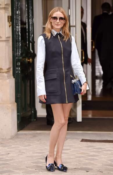 Défilé Christian Dior haute couture 2016-2017 : Olivia Palermo
