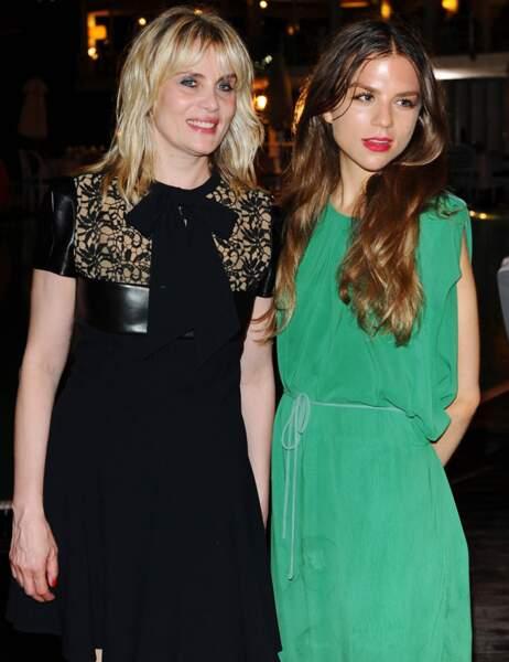 Emmanuelle Seigner et sa fille Morgane Polanski