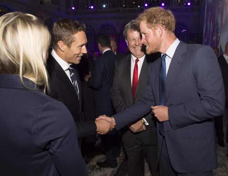 Le prince accueille une légende locale, Jonny Wilkinson