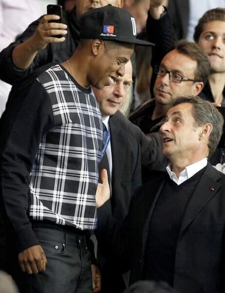 Nicolas Sarkozy en grande discussion avec Jay Z