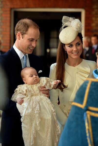 Anniversaire du Prince George - 23 octobre 2013, George est baptisé en la chapelle royale du palais Saint James