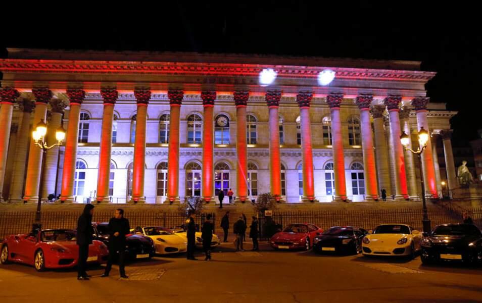 Le Palais Brongniart transformé en parking de luxe