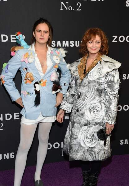 Susan Sarandon avec son fils Miles Robbins