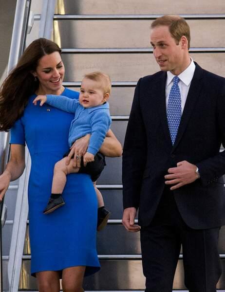 La famille royale est arrivée à Canberra