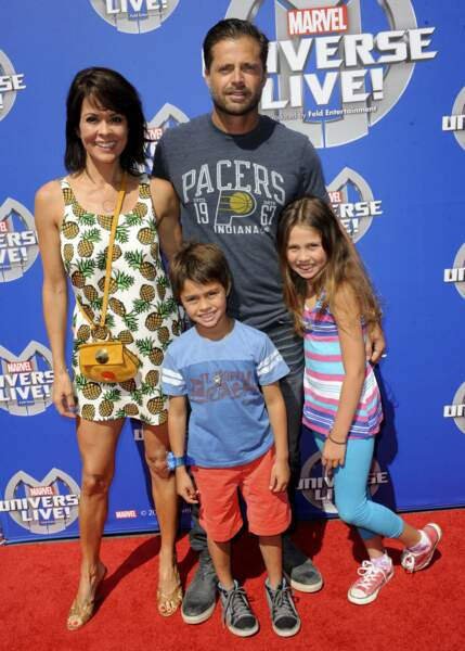 Brooke Burke, David Charvet et leurs deux enfants Heaven Rain et Shaya