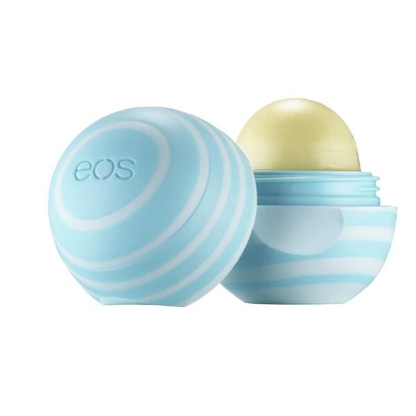 Baume pour les lèvres Eos Vanilla Mint en exclusivité chez Nocibé, 5,90€. On aime : son packaging cute et son odeur