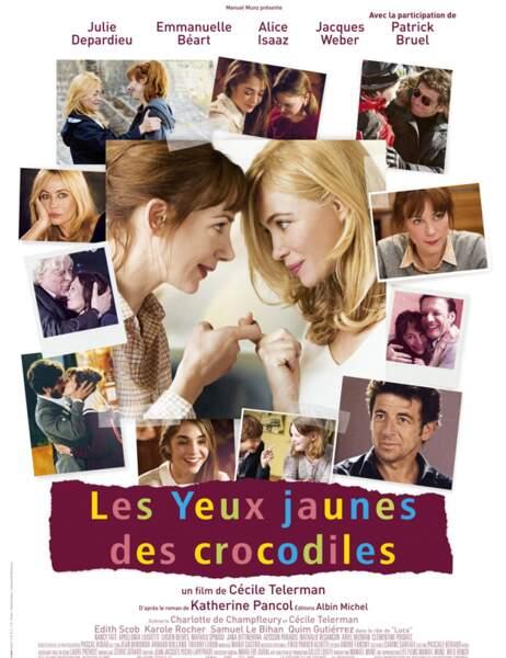 """L'affiche du film """"Les Yeux Jaunes des Crocodiles"""""""