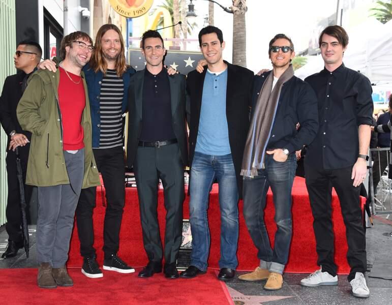 Bien sûr, les Maroon 5 étaient là !