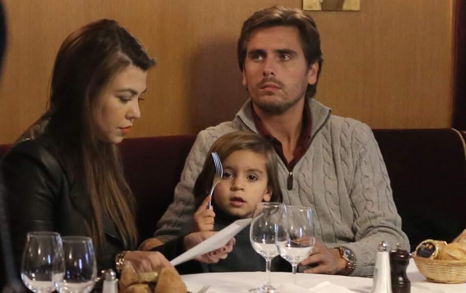 Kourtney Kardashian, Scott Disick et leur fils Mason