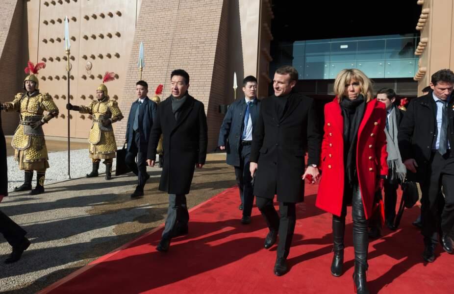 Emmanuel Macron et Brigitte Macron au palais Daming