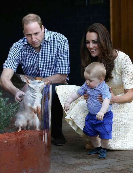 En avril 2014, Kate et William emmènent leur fils en Océanie pour son premier voyage officiel