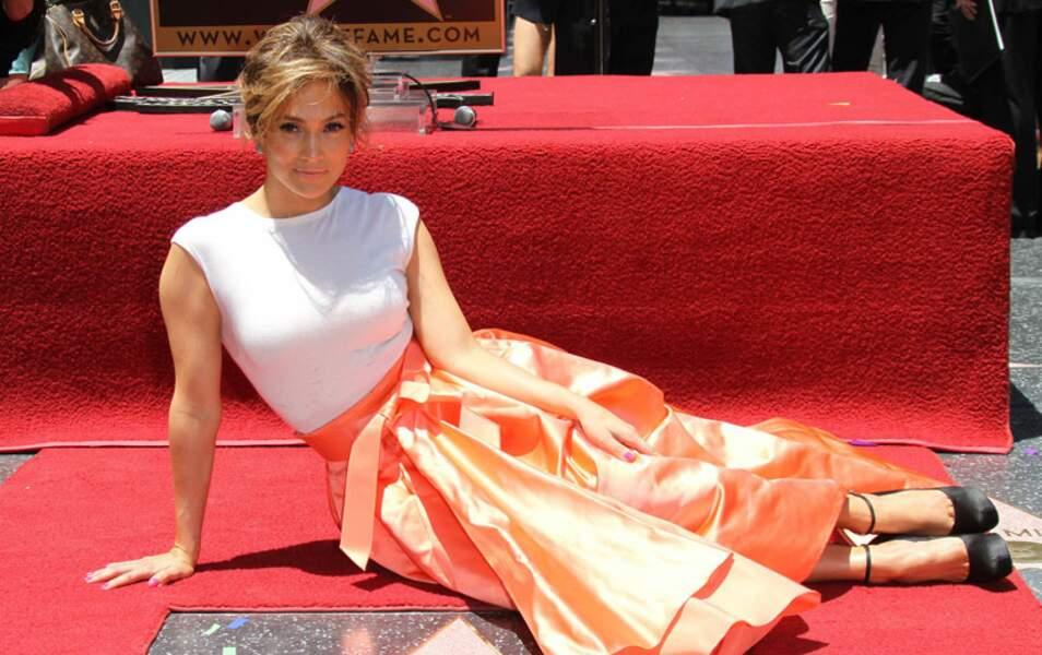 Jennifer Lopez et son étoile