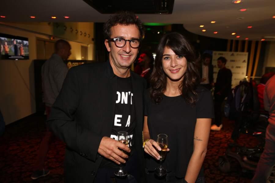 Soirée de lancement FIFA 2017 : Cyrille Eldin et sa petite-amie et collègue Sandrine Calvayrac
