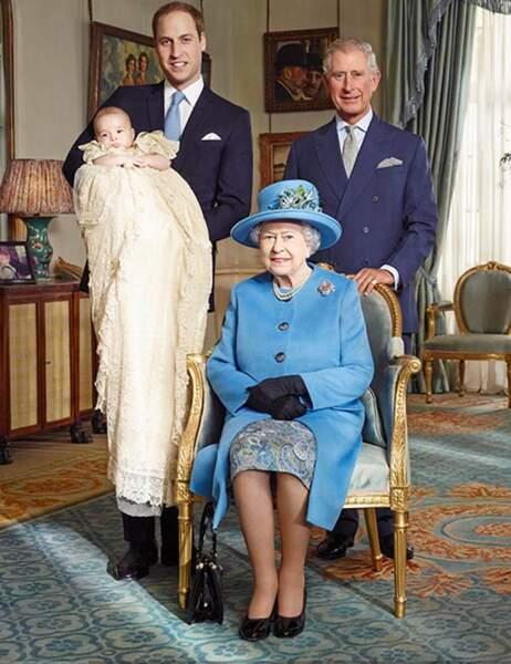La reine et les trois futurs rois d'Angleterre