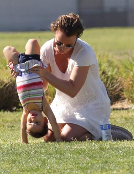 Britney Spears avec une petite fille