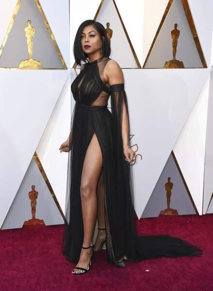 Taraji P. Henson à la 90e cérémonie des Oscars, à Los Angeles le 4 mars 2018