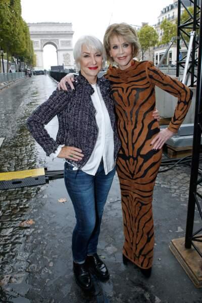 Le Défilé L'Oréal Paris show - Jane Fonda et Helen Mirren le valent bien !