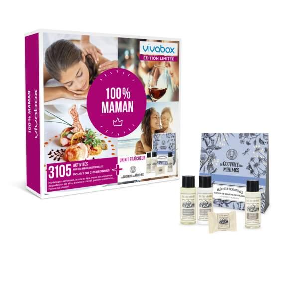Box 100% maman, une activité à choisir parmi plus de 3105 expériences, Vivabox, 39,90 euros