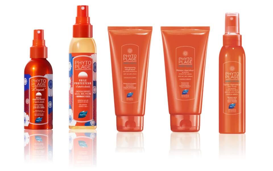 Gamme complète Protection et sublimation des cheveux au soleil. Phyto Plage, à partir de 14 €