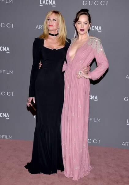 Melanie Griffith et sa fille, Dakota Jonhson 2017 LACMA Art + Film Gala - LA