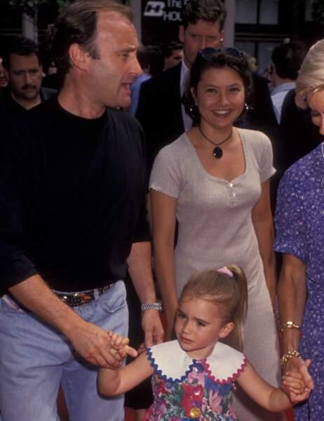 Phil Collins et sa fille Lily petite...