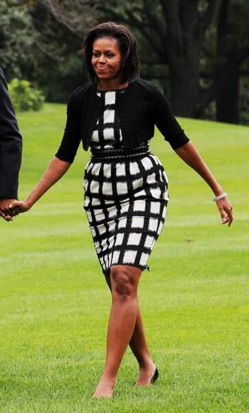 Michelle Obama en Liz Claiborne