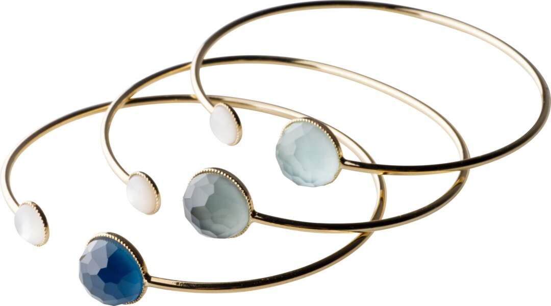 Bracelets joncs Eva Krystal - 79 € pièce