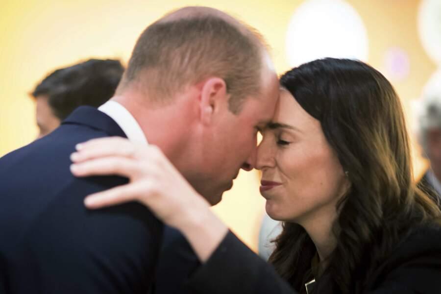 Le prince William avec Jacinda Ardern