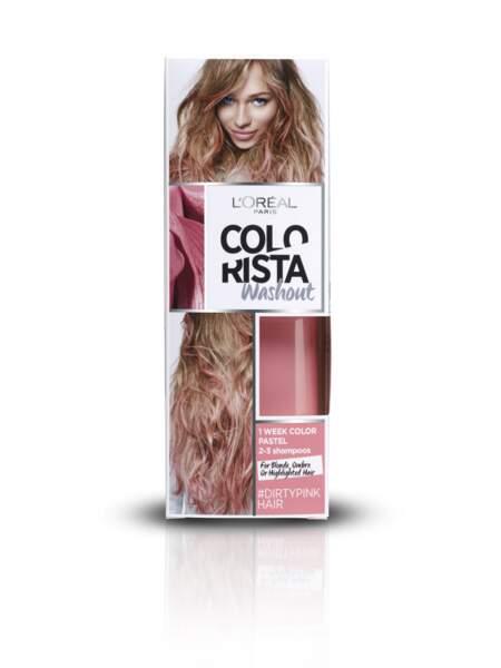 Couleur temporaire Colorista Washout, L'Oréal Paris, 7,90€. On aime : avoir des cheveux de Petit Poney !