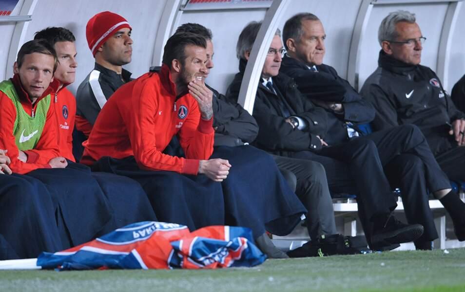 David Beckham est toujours sur le banc