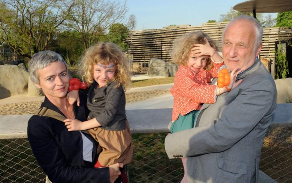 François Berléand, sa femme et leurs enfants