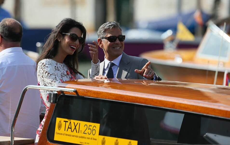 George et Amal resplendissent de bonheur
