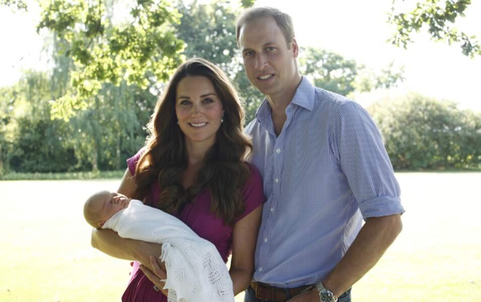 Kate, William et George (sans Luppo et Tilly)