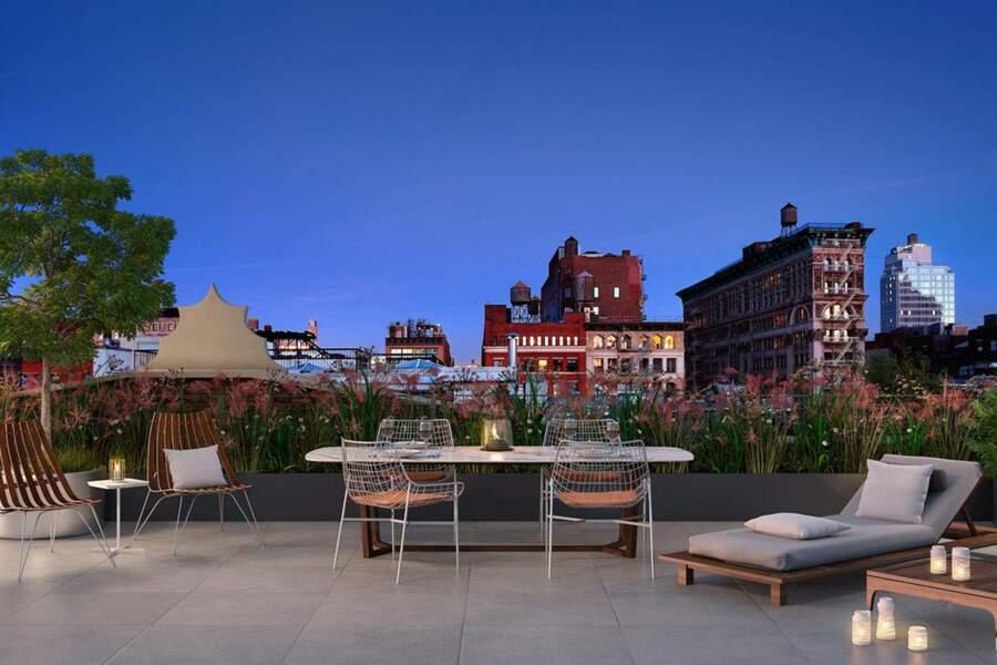 La superbe terrasse de 90 mètres carré