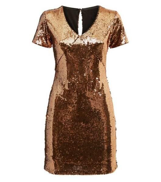 Mini robe bronze, Blue Vanilla sur New Look, 49,99€