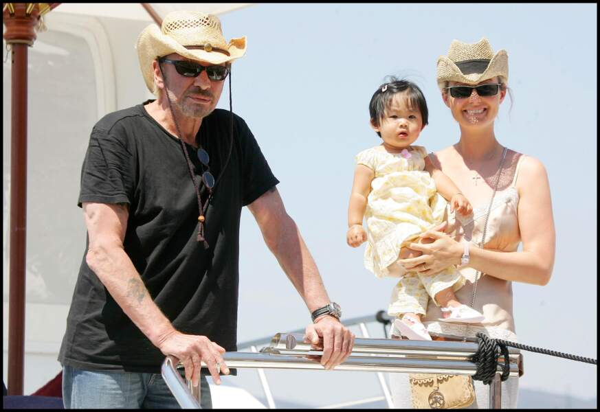2005 - Le couple est comblé par l'arrivée de la petite Jade
