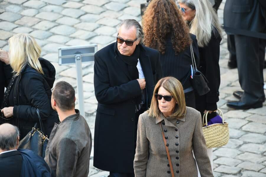 Michel Leeb et son épouse Béatrice à l'hommage national à Charles Aznavour