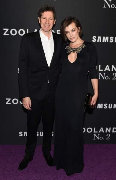 Milla Jovovich pose avec son mari Paul W S Anderson