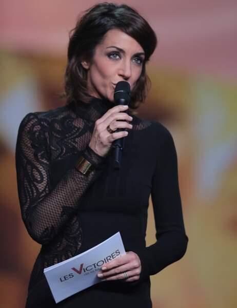 Virginie Guilhaume, toujours très classique, a opté pour une robe noire au genou