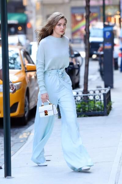 Les do de la semaine : le pantalon large - Gigi Hadid