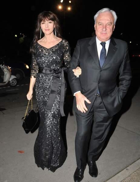 Monica Bellucci accompagnée de Bernard Fornas, le PDG de Cartier