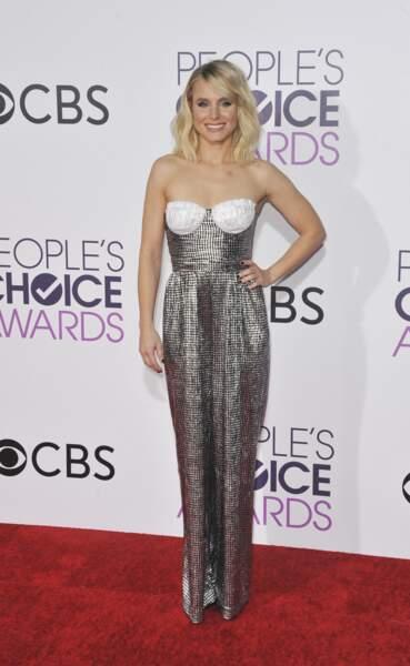 People's Choice Awards 2017 : Kristen Bell était adorable dans sa combi argentée Rasario