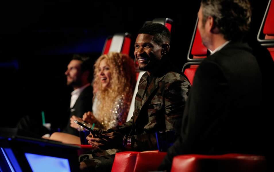 Le jury de la saison 4 de The Voice US : Adam Levine, Shakira, Usher et Blake Shelton