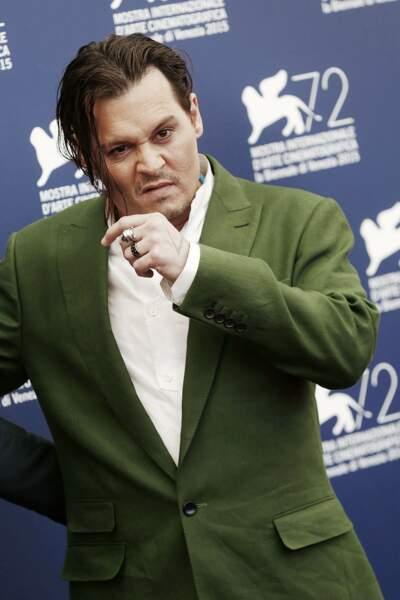 Johnny Depp au photocall de The Black Mass