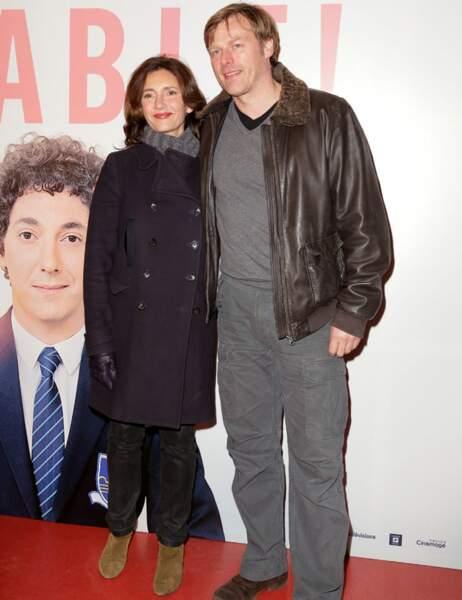 Valérie Karsenti et un ami