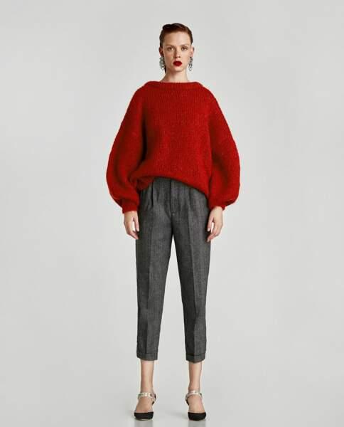 Zara : Pantalon 7/8 à pinces, 25,99 euros au lieu de 39,95 euros