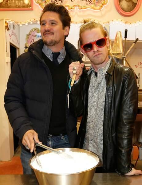 Macaulay Culkin et Matthias Van Khache